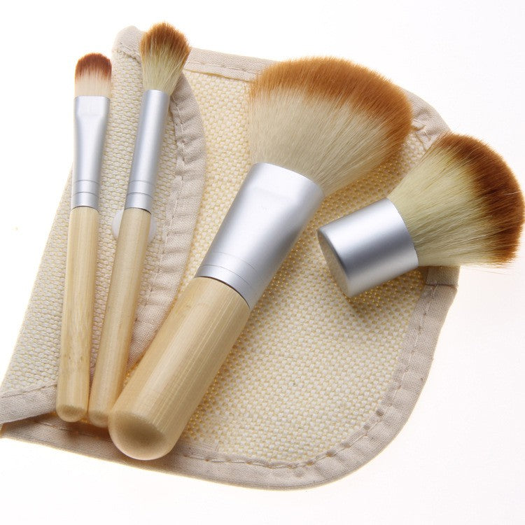 Brush Makeup Wooden 4 Set