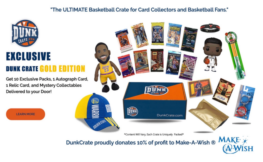 Dunk Crate Gold Edition - 3 Month Subscription