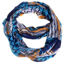 Load image into Gallery viewer, Peach Couture Womens MultiColor Chevron Soft & Sheer Infinity Scarf