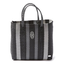 Load image into Gallery viewer, MEDIUM BLACK STRIPE TOTE BAG