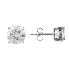 Load image into Gallery viewer, Solitaire Earring CZ Silver White