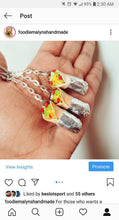 Load image into Gallery viewer, Burrito Charm Keychain Miniature Burrito Necklace Food jewelry Funny