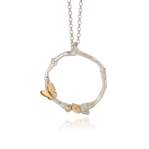 Butterfly Hoop Necklace