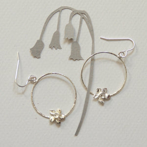 Daffodil Hoop Earrings