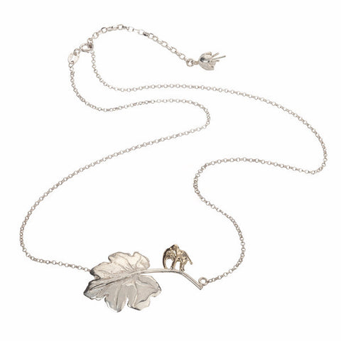 Just So Elephant and Leaf Necklace