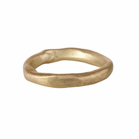 Heavy Gold Organic Twist Band