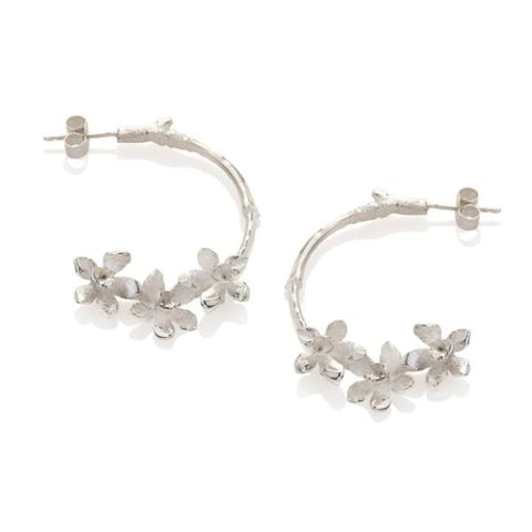 Daffodil Twig Hoop Earrings