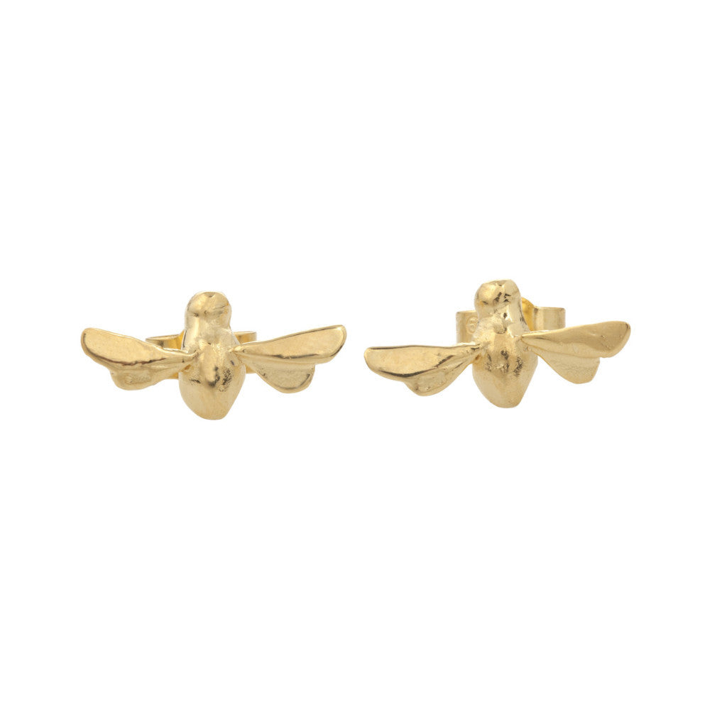 Gold Bee Mine Earrings