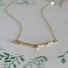 Diamond Gold Twig Necklace