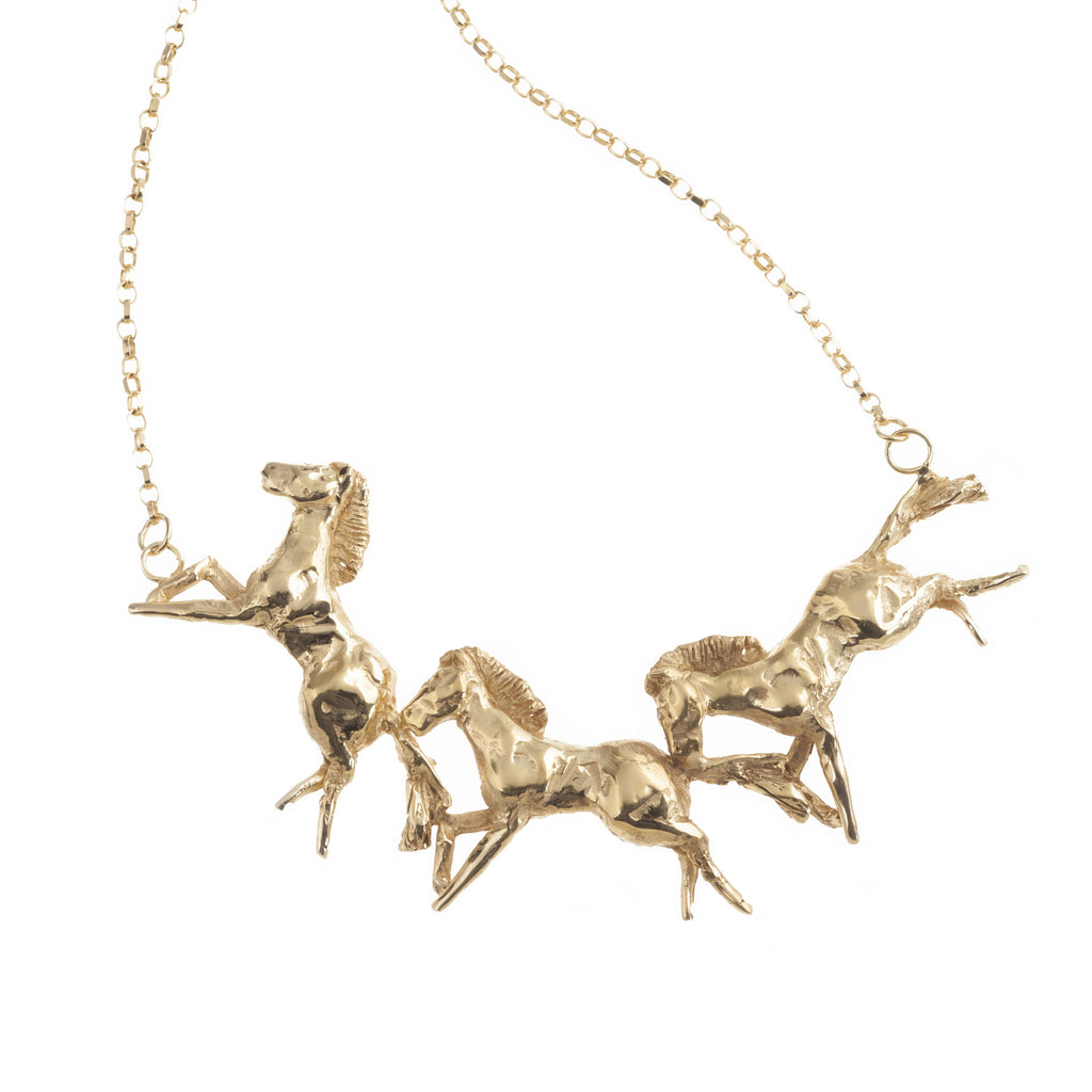 Miniature Galloping Horse Necklace