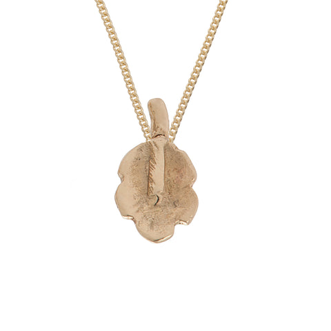Tiny Oak Leaf Necklace