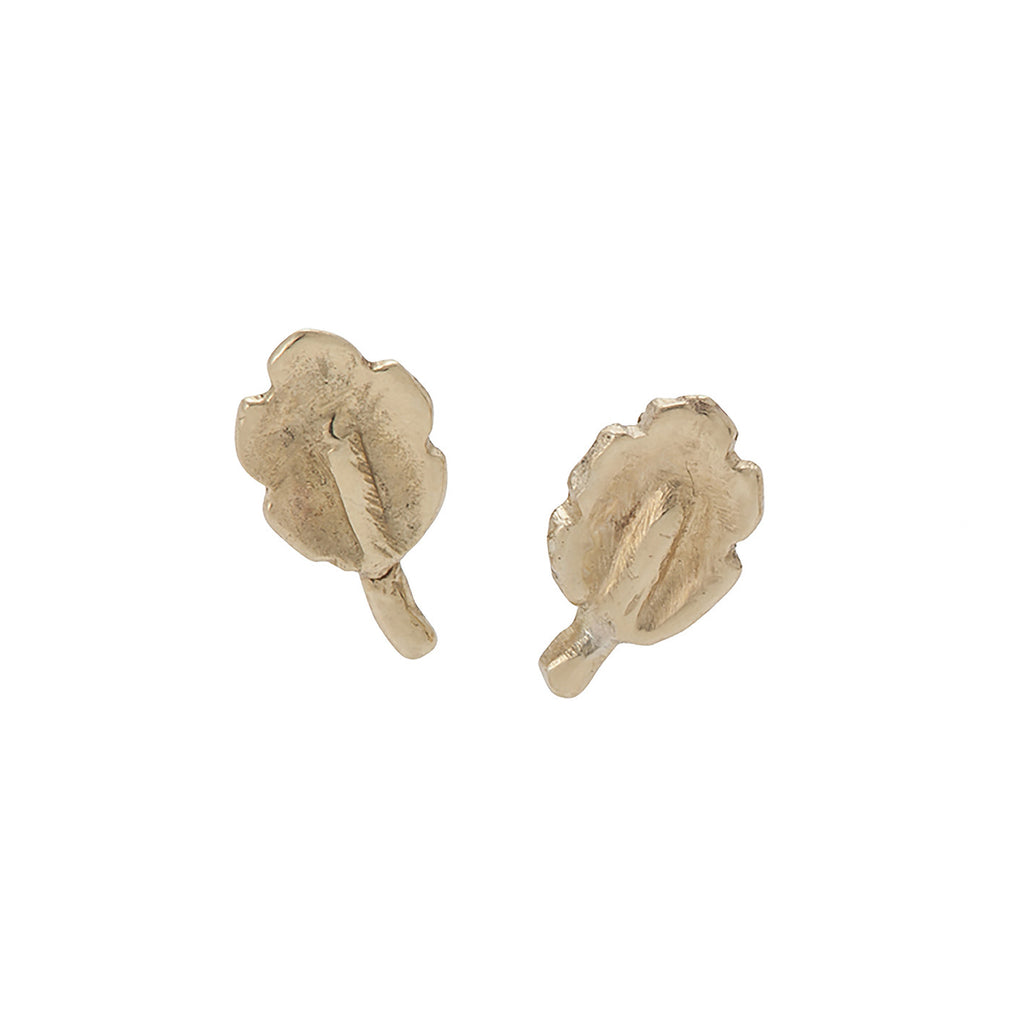 Tiny Oak Leaf Studs