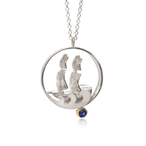 Pirate Ship Sapphire Necklace