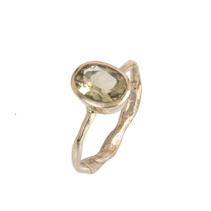 Yellow Beryl Secret Garden Gold Ring