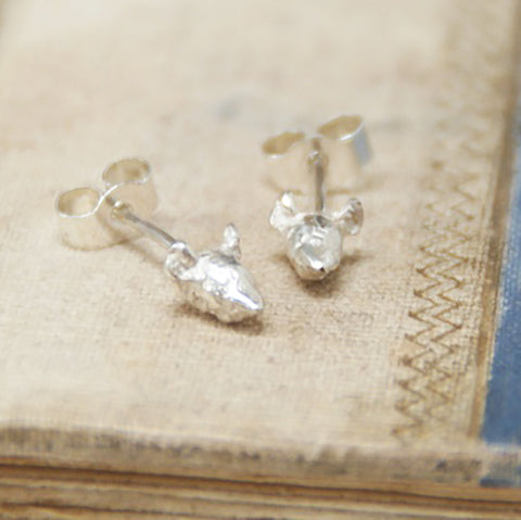 Tiny Mouse Stud Earrings