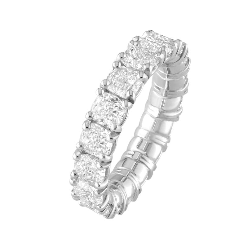 18kt White Gold Cushion Cut Diamond Eternity Band