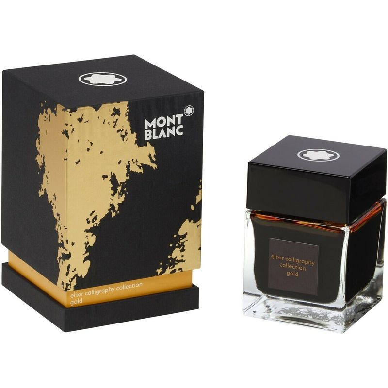 Ink Bottle 50 ml, Elixir Calligraphy Yellow Gold