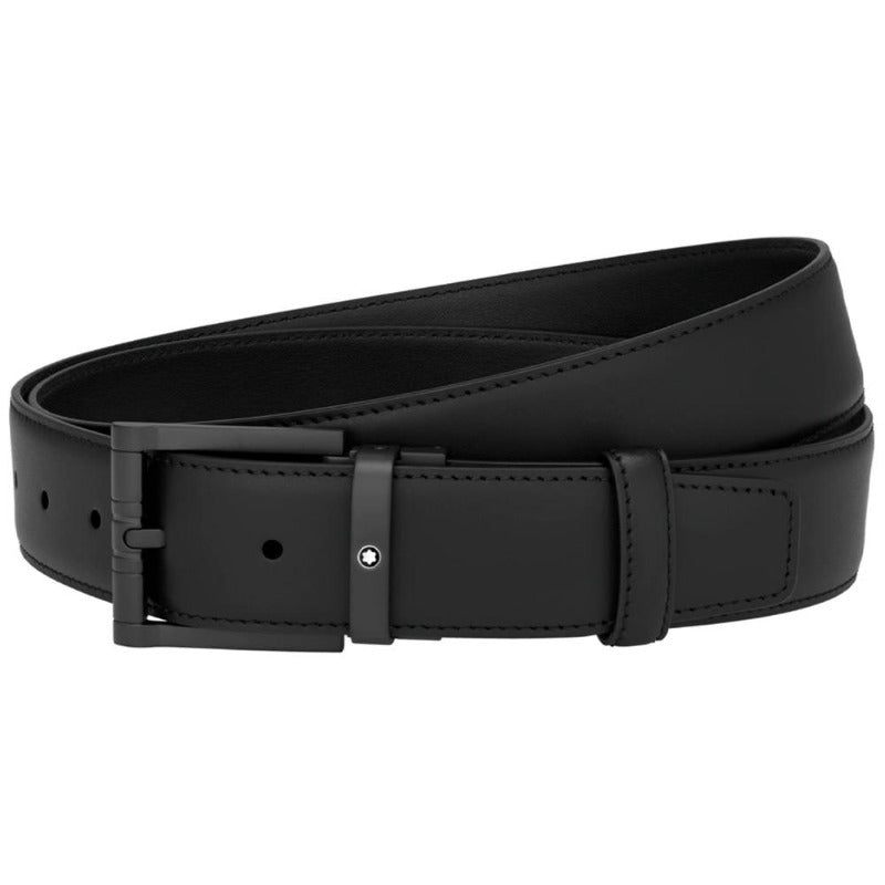 Squared Matt Black PVD Pin Buckle Belt