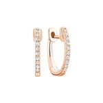 14kt Rose Gold Diamond Huggie Hoops