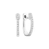 14kt White Gold Diamond Huggie Hoops