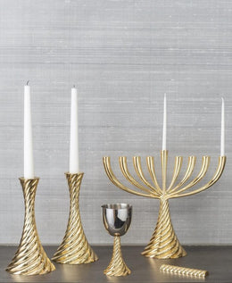 Twist Gold Menorah