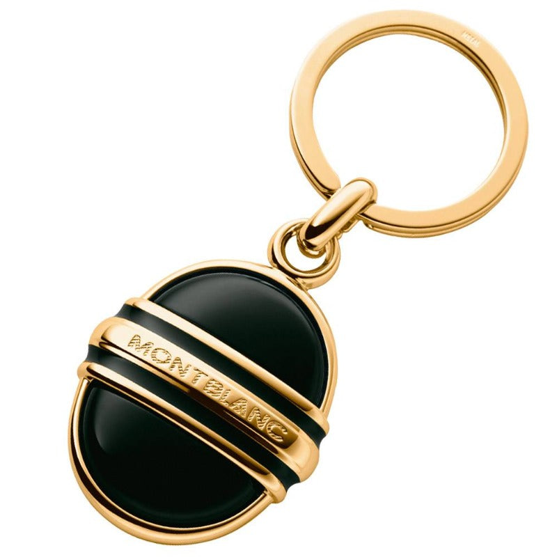 Gold Plated and Onyx Keyring