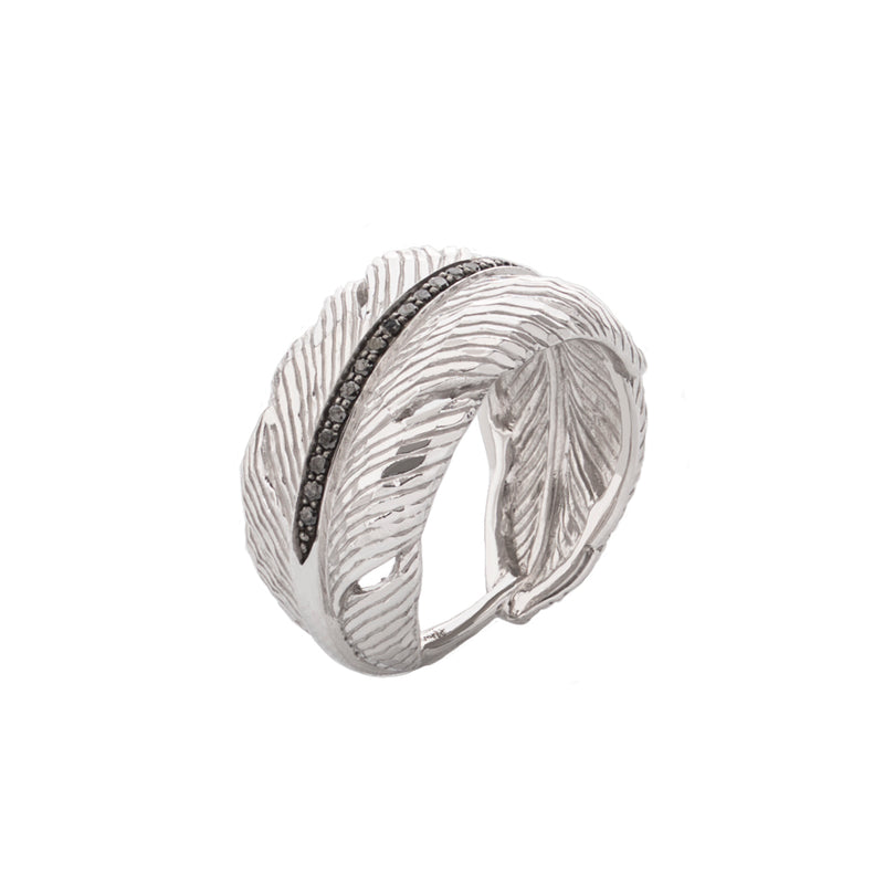 Feather Cuff Diamond Ring