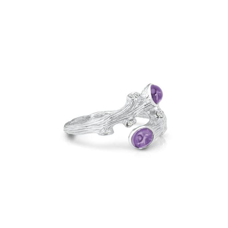 Enchanted Forest Amethyst and Diamond Ring