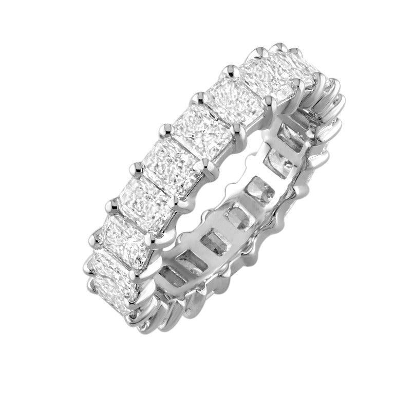 18kt White Gold Radiant Cut Eternity Band