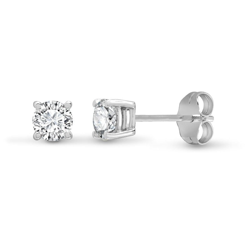 14kt White Gold 0.90ct Diamond Stud Earrings