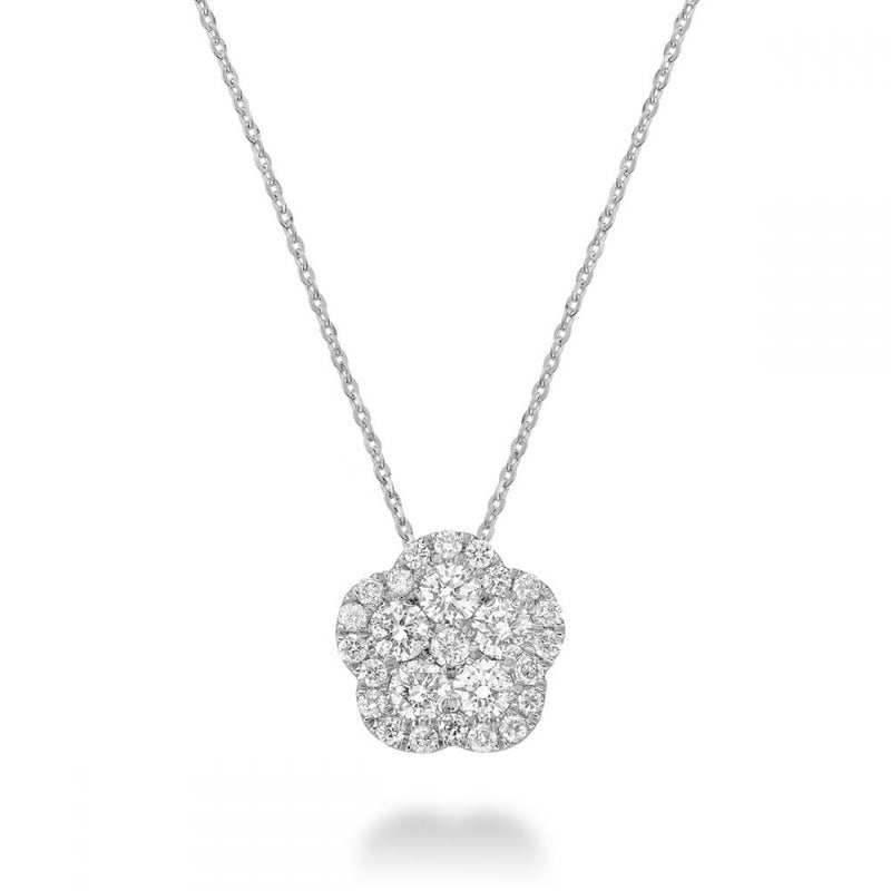 14kt Gold Floral Diamond Necklace