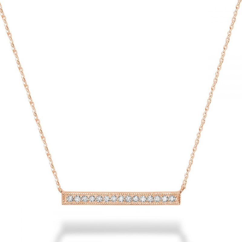 14kt Gold Diamond Bar Necklace