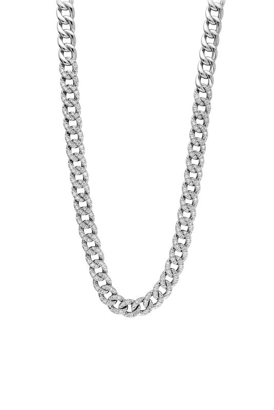 18kt White Gold Curb Link Chain