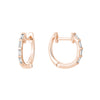 Rose Gold Baguette Diamond Hoop Earrings