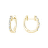 Yellow Gold Baguette Diamond Hoop Earrings