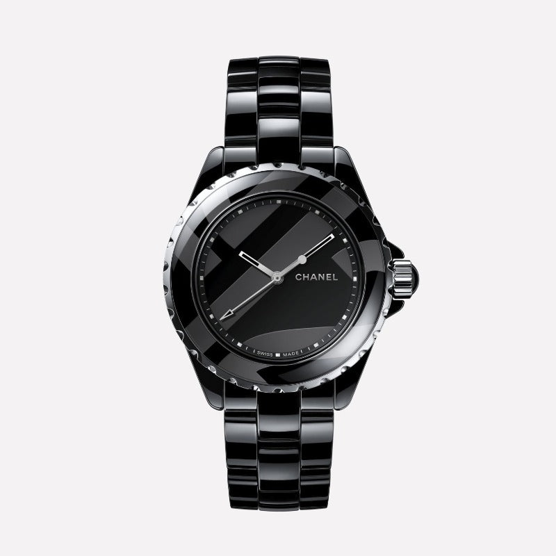 Chanel J12 Black Ceramic Automatic 38mm Untitled Watch H5581