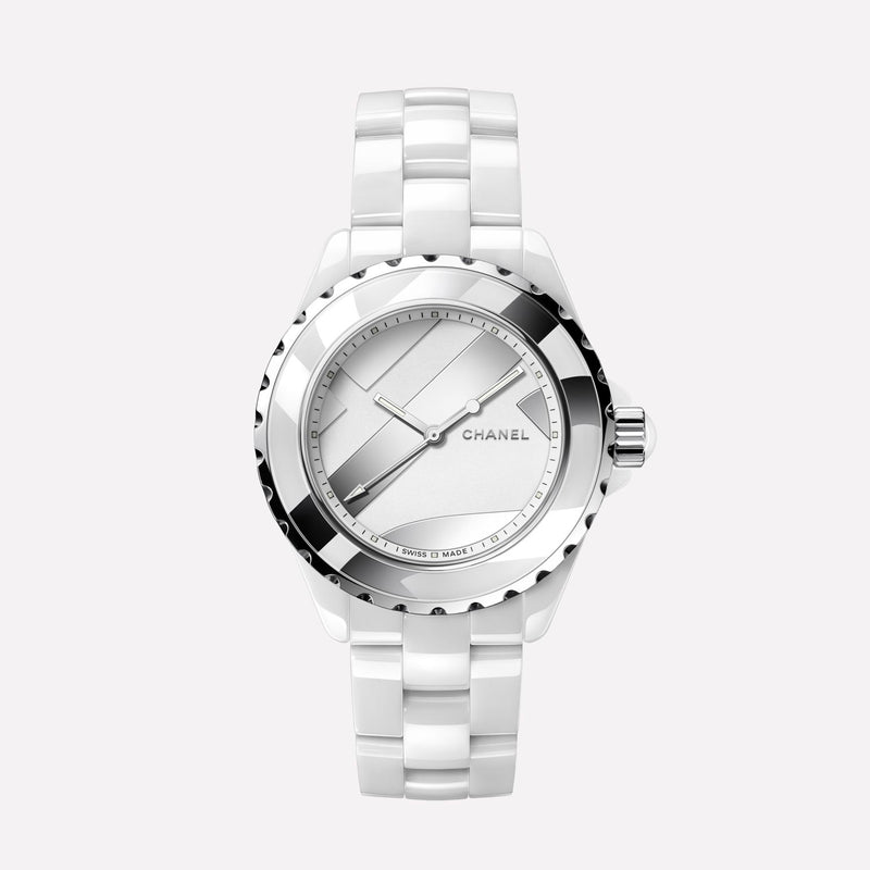 Chanel J12 White Ceramic Automatic 38mm Untitled Watch H5582