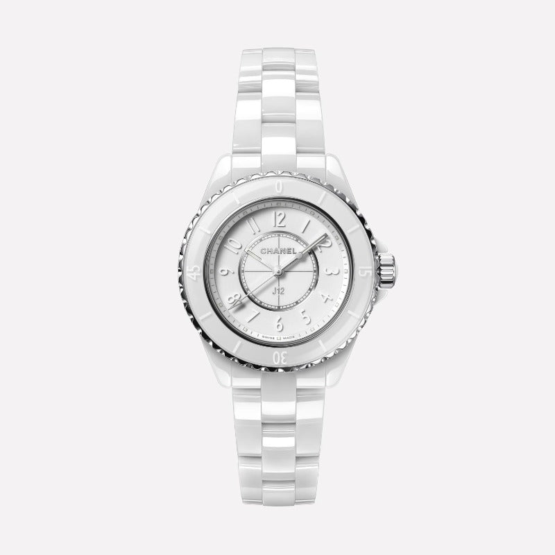 Chanel J12 Phantom White Ceramic 33mm Automatic Watch H6345