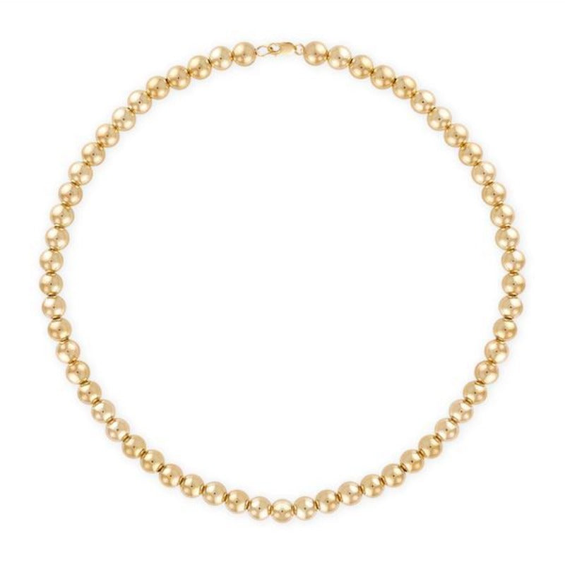 14kt Yellow Gold Large Ball Necklace