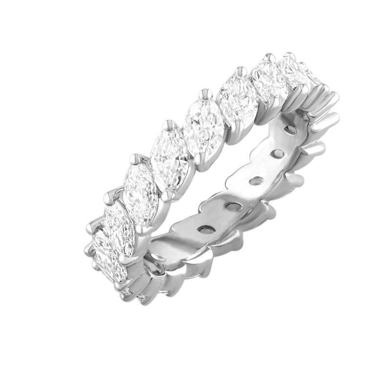 18kt White Gold Marquise Diamond Eternity Band