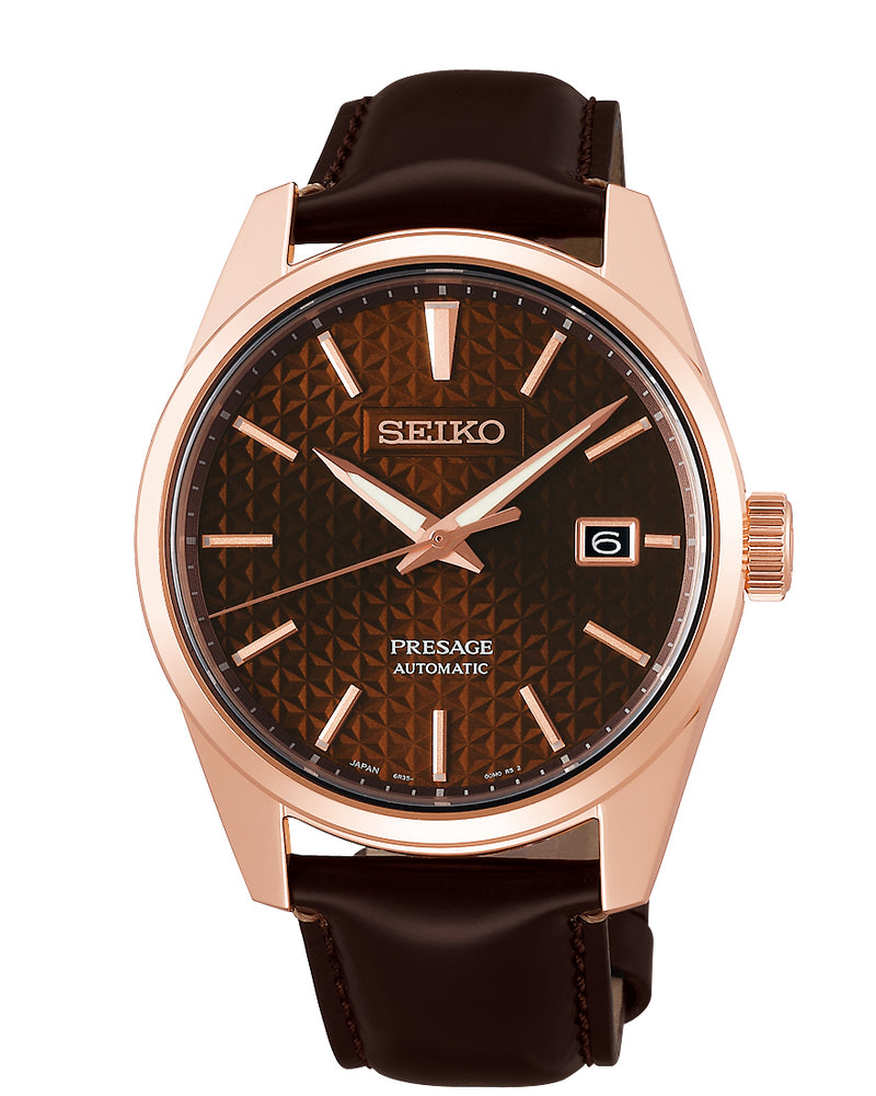 Seiko Presage Sharp Edged Series Brown Dial SPB170J1