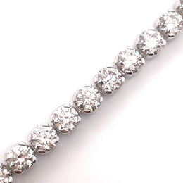 18kt White Gold 16.09ct Diamond Tennis Bracelet