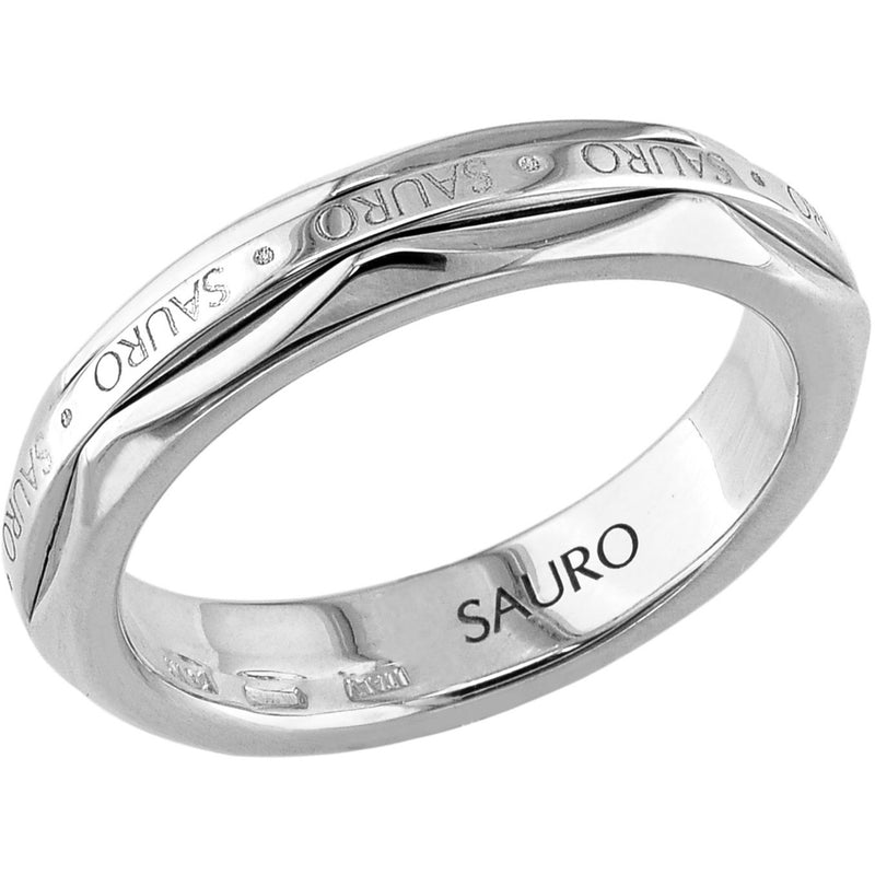 Sauro 18kt White Gold Rotating Ring