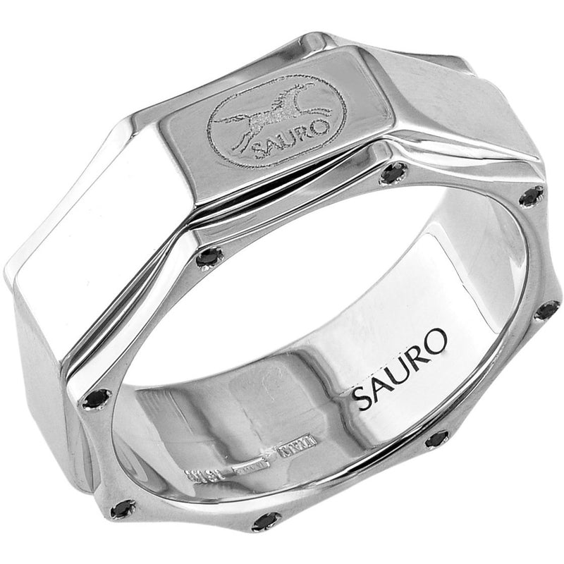 Sauro 18kt White Gold Rotating Diamond Ring
