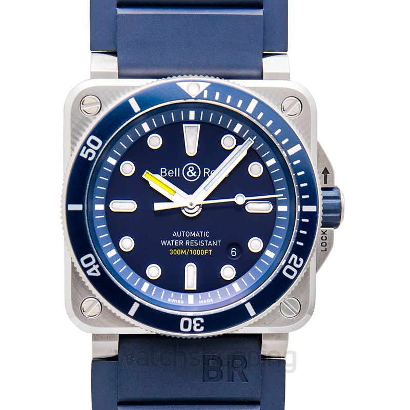 Bell and Ross Blue Divers BR0392-D-BU-ST/S