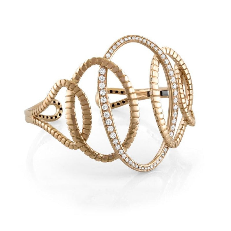 18kt Rose Gold Interlocked Oval Bangle