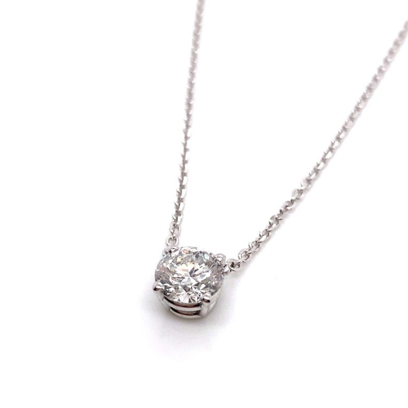 18kt White Gold 1.00ct Diamond Necklace