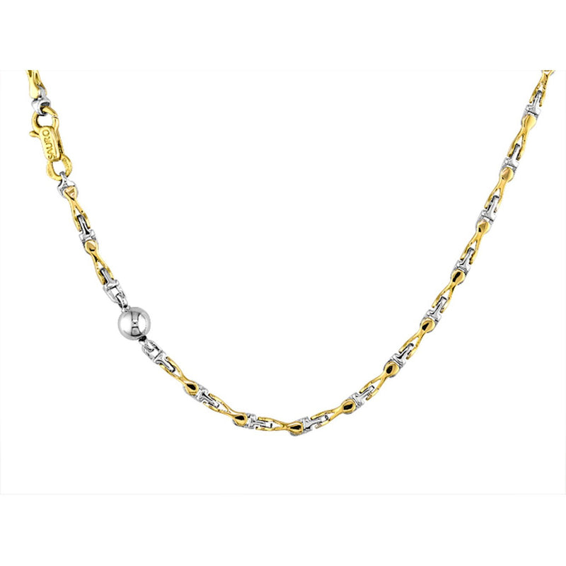 Sauro 18kt Yellow & White Gold Figure 8 Link Necklace