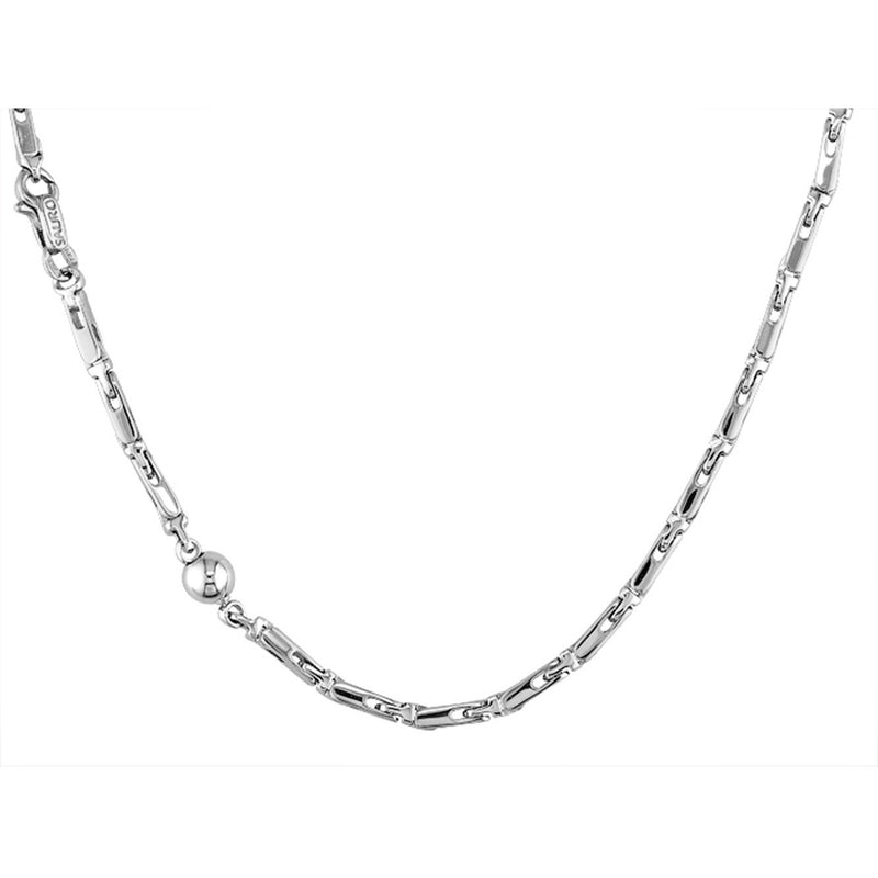 Sauro 18kt White Gold Solid Link Necklace