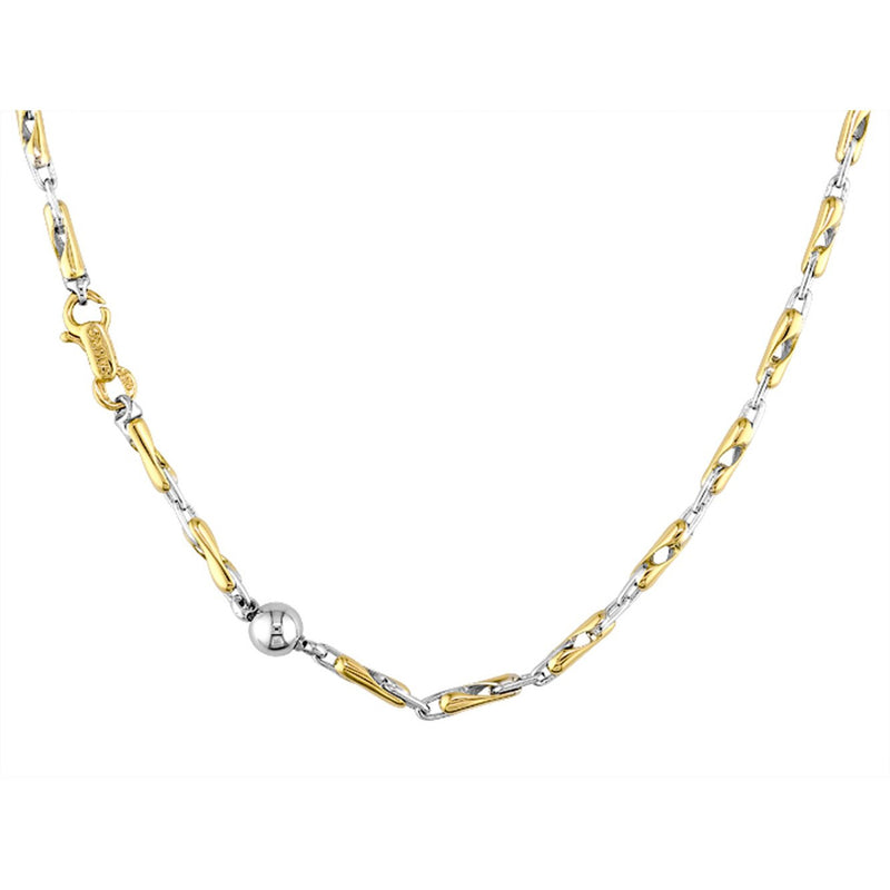 Sauro 18kt Yellow & White Gold Twist Link Necklace